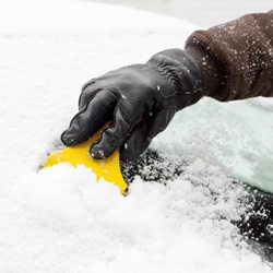 Make sure to scrape the ice from all your windows